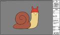 Modelsheet snail - withbathingcap