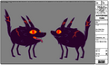 Modelsheet Fire Wolf Pup - Sunset Color
