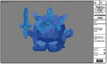 Modelsheet Ice King in Ice Armor - Night Color