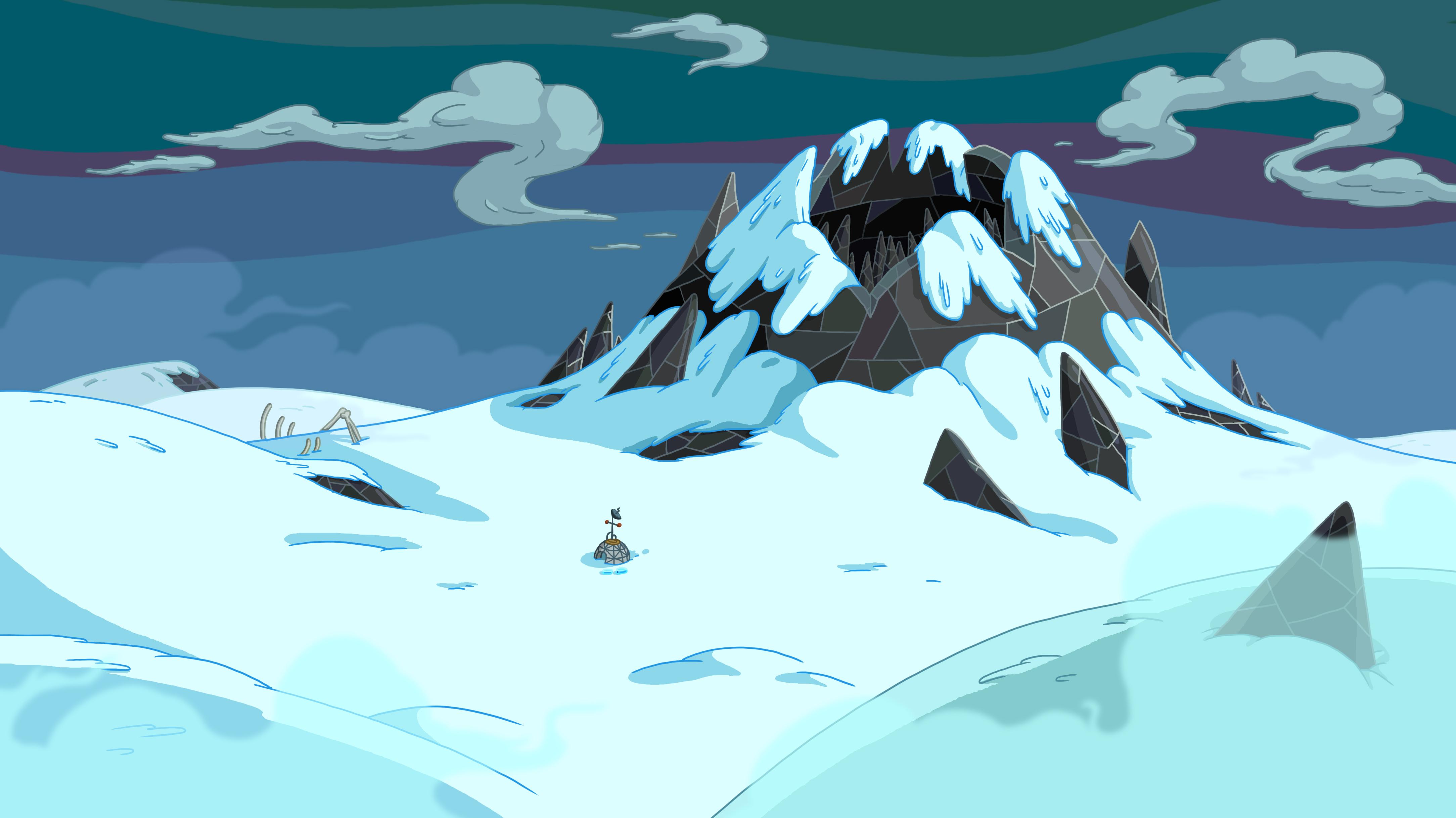 Black ice cave