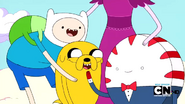S2e17 Finn and Jake laughing at Peppermint Butler