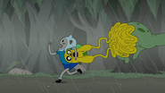 S4e23 Finn and Jake running from Mega Frog