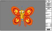 Modelsheet jake butterfly - closeup