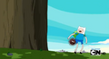 S5 e4 Porcupine attached to Finn's behind