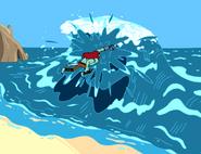 S1e25 Billy slaying Evil Ocean