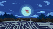 S2E22 The Limit - Finn and Jake riding the Ancient Psychic Tandem War Elephant backwards into the moon-5