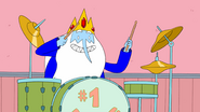 S4 e25 Ice King playing drums