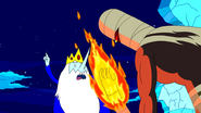 S3e4 Ice King trying to distract Scorcher
