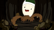 Chipmunks startled
