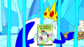 S1e3 ice king holding book