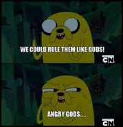 Angry gods