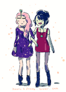 Pb and Marceline party dresses by Hanna K