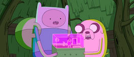 S3e25 Finn and Jake with holo-message player