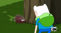 S5 e4 Porcupine telling Finn to sit on him