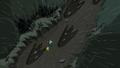 S4e23 Finn and Jake running by footprints