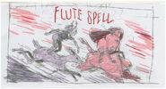 Flute spell title card concept art