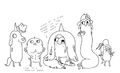 Rainicorn Pup concept drawings by writer and storyboard artist Steve Wolfhard