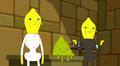 S5e9 the Lemongrabs standing in front of Plop-Top