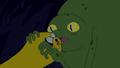 S4e23 Mega Frog about to bite Jake