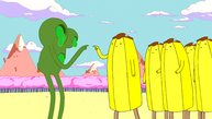 S6e3 Banana Guard about to touch goo monster