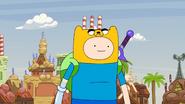 S10E12 Finn wearing Jake the Hat