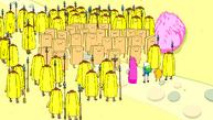 S6e3 Banana Guards surrounding Jameses