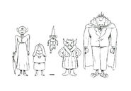 Concept sketches for the Vampires by writer and storyboard artist Tom Herpich