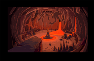 Bg s6e24 Magwood's lair lit with lava