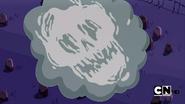 S1e1 skull in smoke