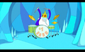 S1e3 ice king playing drums