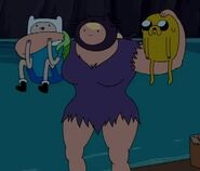 S3e14 susan holding finn and jake