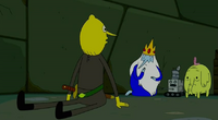 S5 e8 Lemongrab with head turned all the way around