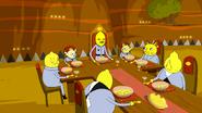S6e28 Lemon People eating dinner