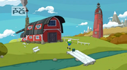 S5 e6 Finn and BMO walking to Lady's stable
