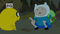S4 E23 Finn and Jake having no idea how to start a fire