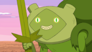 S8e28 Fern Hissing at Finn with Grass Sword out