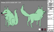 Huntress Wizard As A Wolf modelsheet