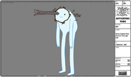 Modelsheet snowgolem treebranch througheye