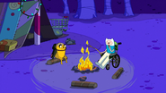 S3e15 Finn and Jake sitting by the fire