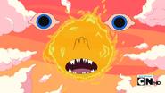 S5 e13 Xergiok's face in the sun