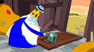 S9e2 Ice King and BMO shaking hands