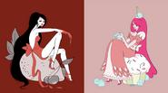 Bonnibel and Marceline - Sweet Seat - by Natasha