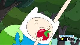 S2e10 Finn kissing apple