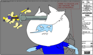 Modelsheet Ice King as Finn Getting Sword Slice by Butterflies - Special Pose