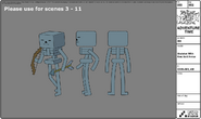 Modelsheet Skeleton with Bow and Arrow