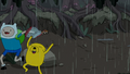 S4e23 Finn and Jake running and laughing