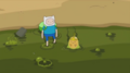 S5 e35 Finn and Slime Princess enter the puddle of slime