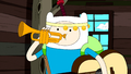 S5e23 Finn tooting horn
