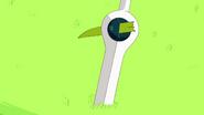 A Piece of the Grass Sword stuck on Finn Sword