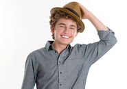 Sean Giambrone with hat